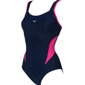 arena Makimurax One Piece Badeanzug Low C Cup Damen navy/rose violet